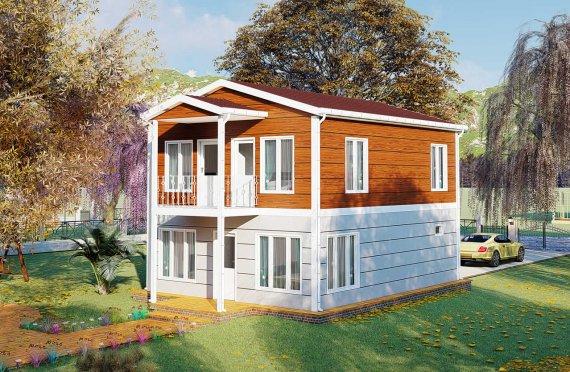 126 m2 Prefabrik Villa