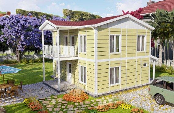 128 m2 Prefabrik Villa