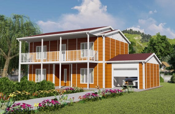 196 m2 Prefabrik Villa