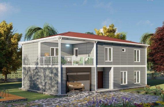 206 m2 Prefabrik Villa