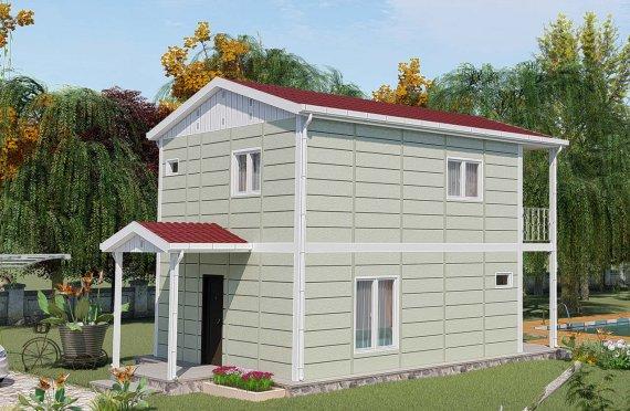 91 m2 Prefabrik Villa