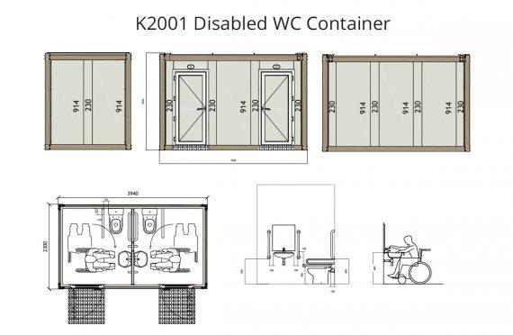 K 2001 Nogiron WC konteyner