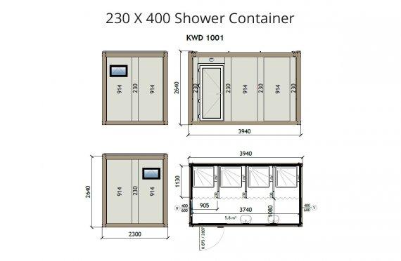 KW4 230&400 dush konteyner