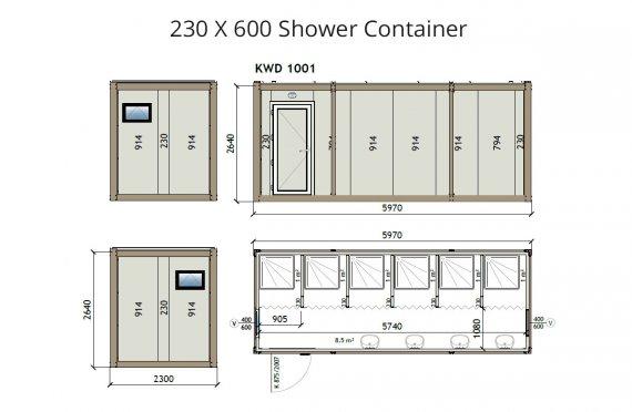 KW6 230x600 dush konteyner
