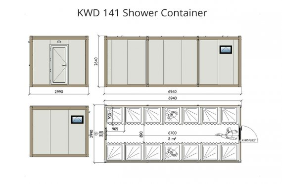 KWD 141 dush konteyner