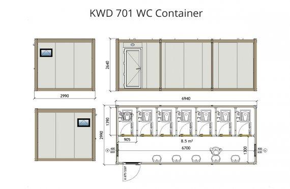 KWD 701 WC konteyner
