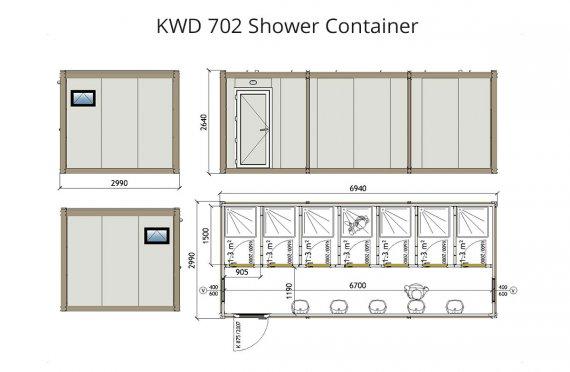 KWD 702 dush konteyner