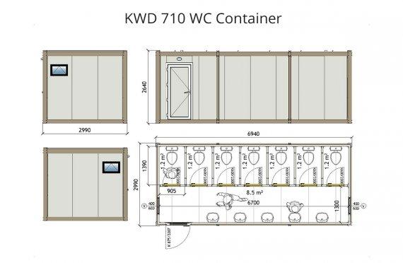 KWD 710 Wc konteyner