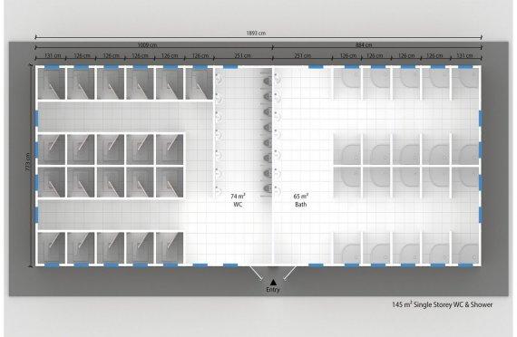 Prefabrik Hojatxona & dush binolari 145 m²