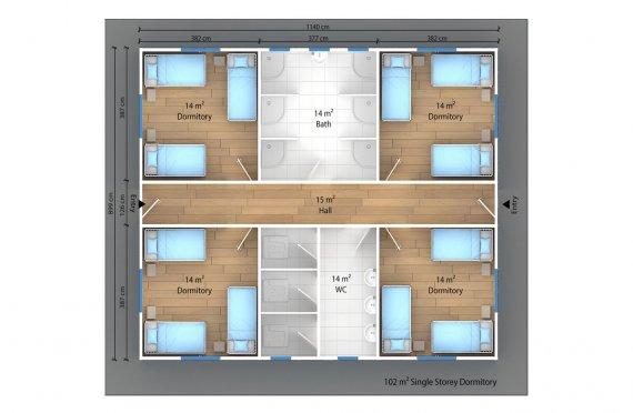 Modul turar joy bino 102 m2