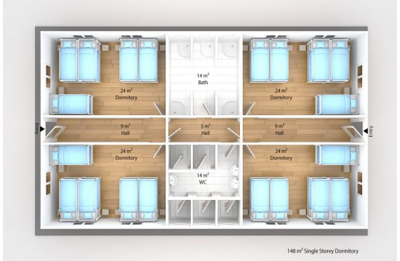 Modul turar joy binosi 148 m2