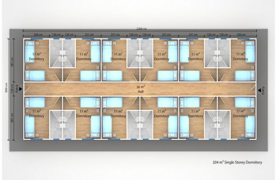 Modul turar joy binosi 204 m2
