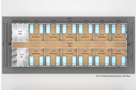 Modul turar joy binosi  474 m²
